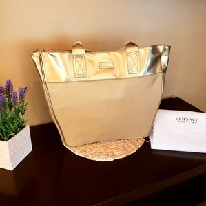 NWOT VERSACE GOLD TOTE